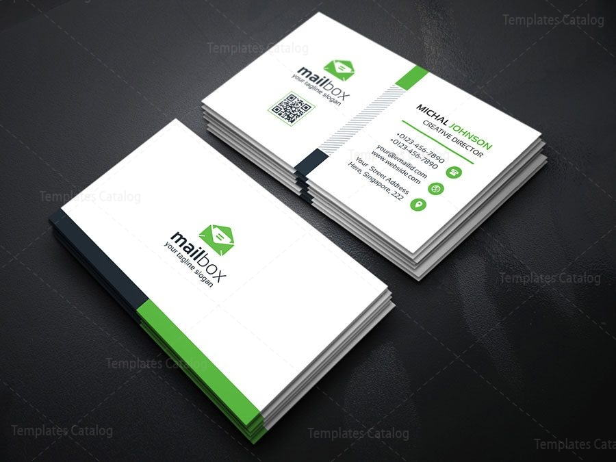 Simple Business Card Design Template 000157 - Template Catalog