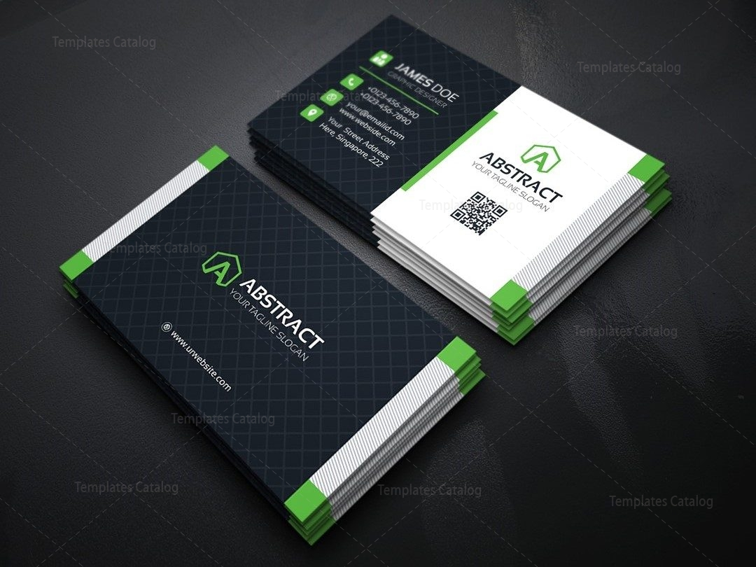 Stylish Business Card Design Template 000158 - Template Catalog