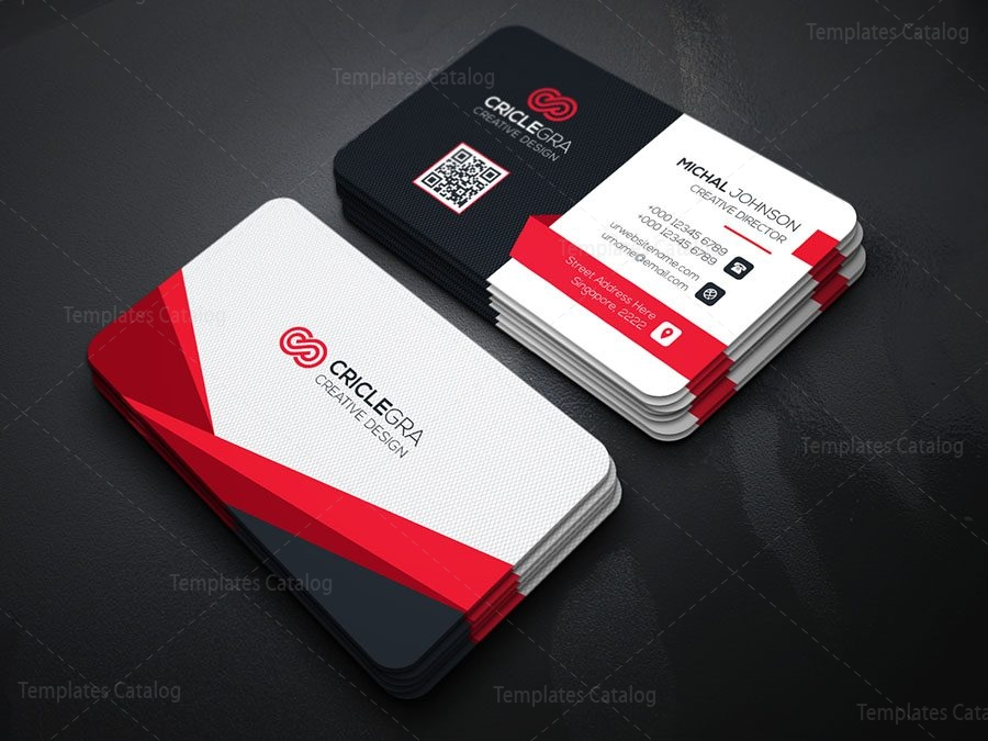 stylish technology business card 000170 template catalog