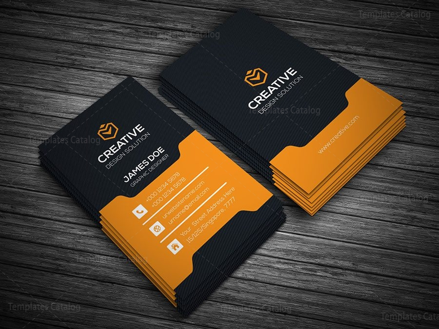 Stylish Vertical Business Card 000142 - Template Catalog