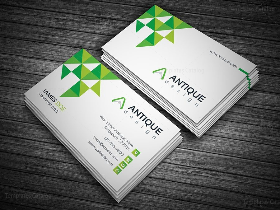 Stylish white visiting card template 000137 template catalog stylish white visiting card template 4 accmission Images