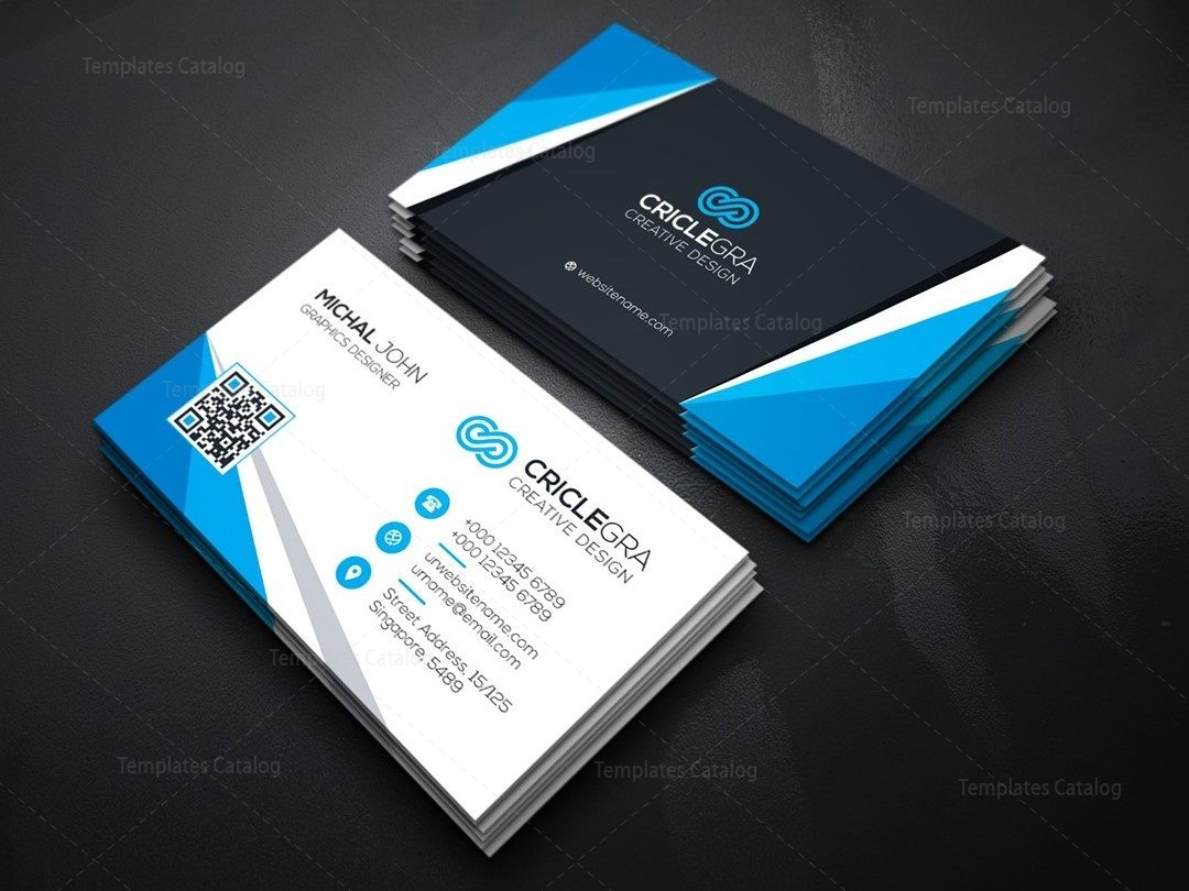 Versatile Corporate Business Card Template 000164