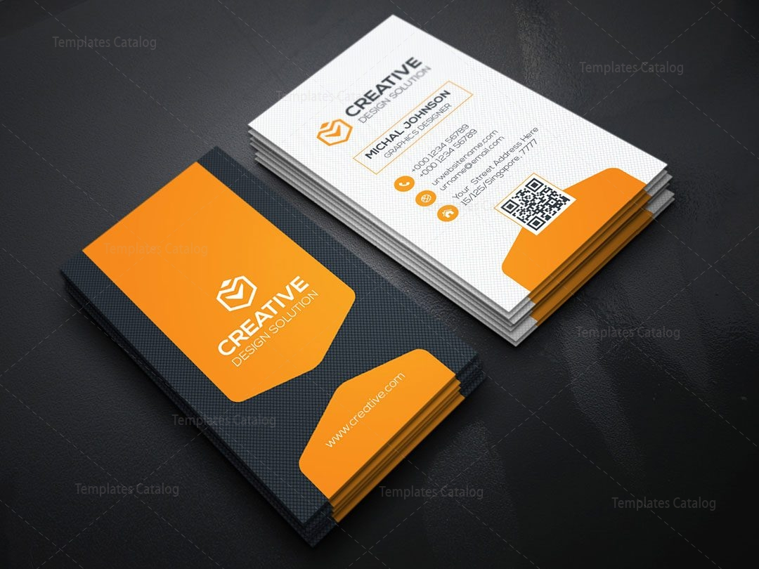 Vertical Business Card Design Template Template Catalog - Business card vertical template