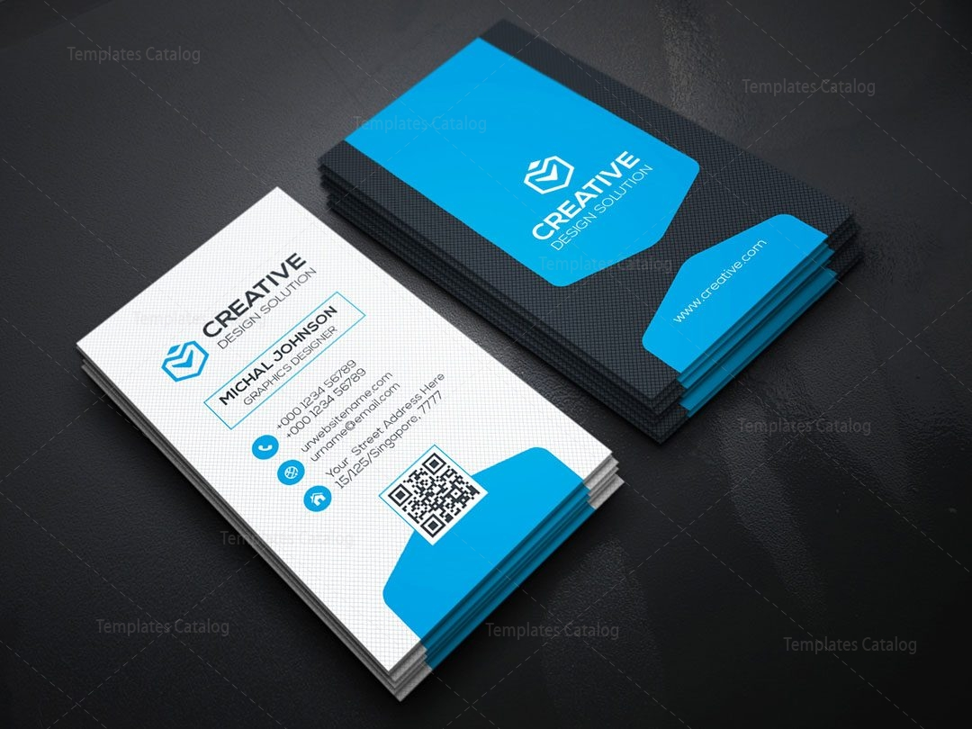 Vertical Business Card Design Template 000156