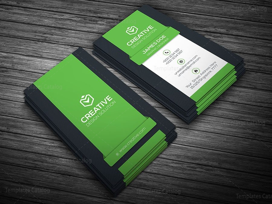 Creative vertical business card template 000107 template catalog vertical business card template green reheart Choice Image
