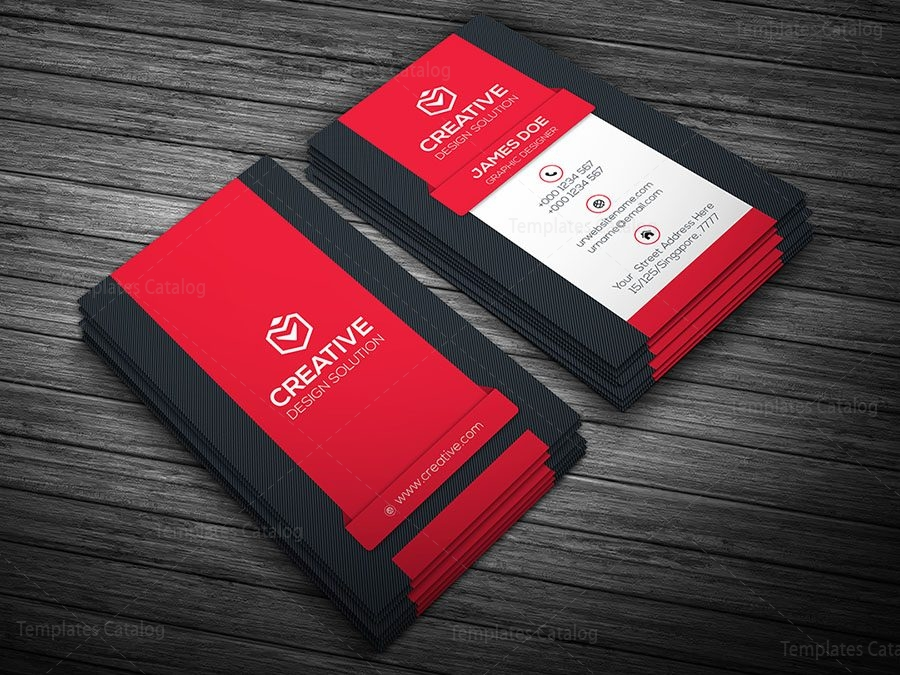 Creative vertical business card template 000107 template catalog vertical business card template red accmission Gallery