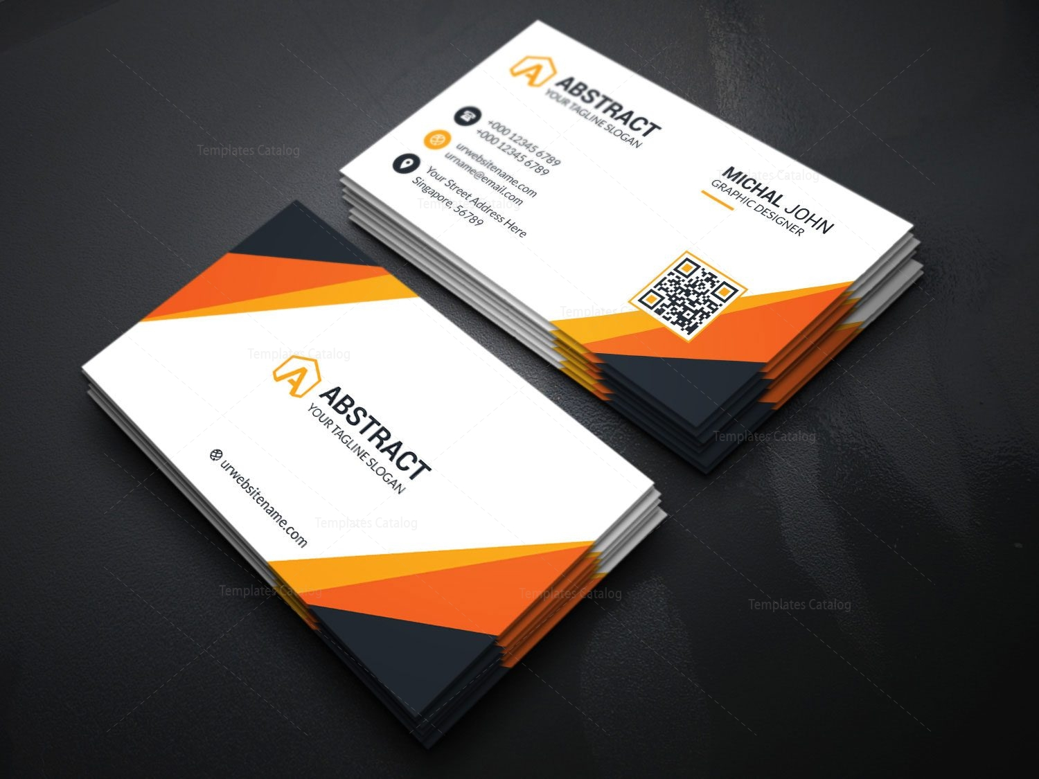 Visiting Card Template for Companies 000175 Template Catalog – Visiting Card