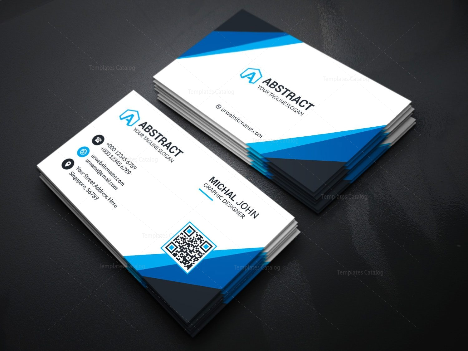 Visiting card template for companies 000175 template catalog visiting card template for companies 4 fbccfo Gallery