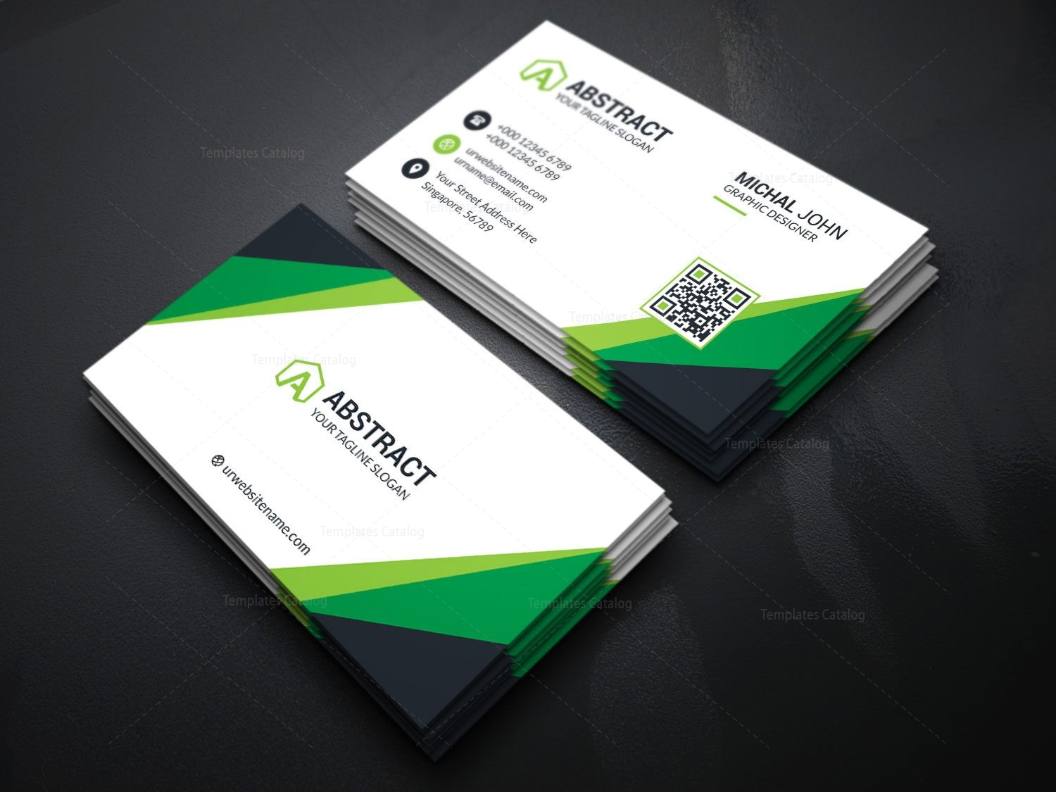 Visiting card template for companies 000175 template catalog visiting card template for companies 5 wajeb Gallery