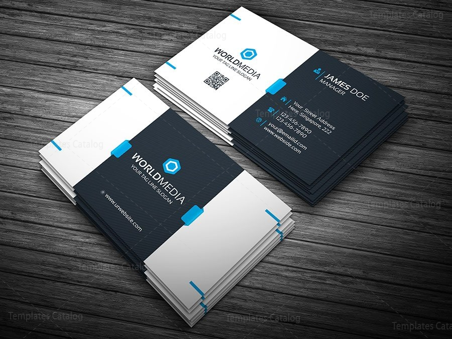 Premium white business card template archives template catalog premium visiting card template wajeb