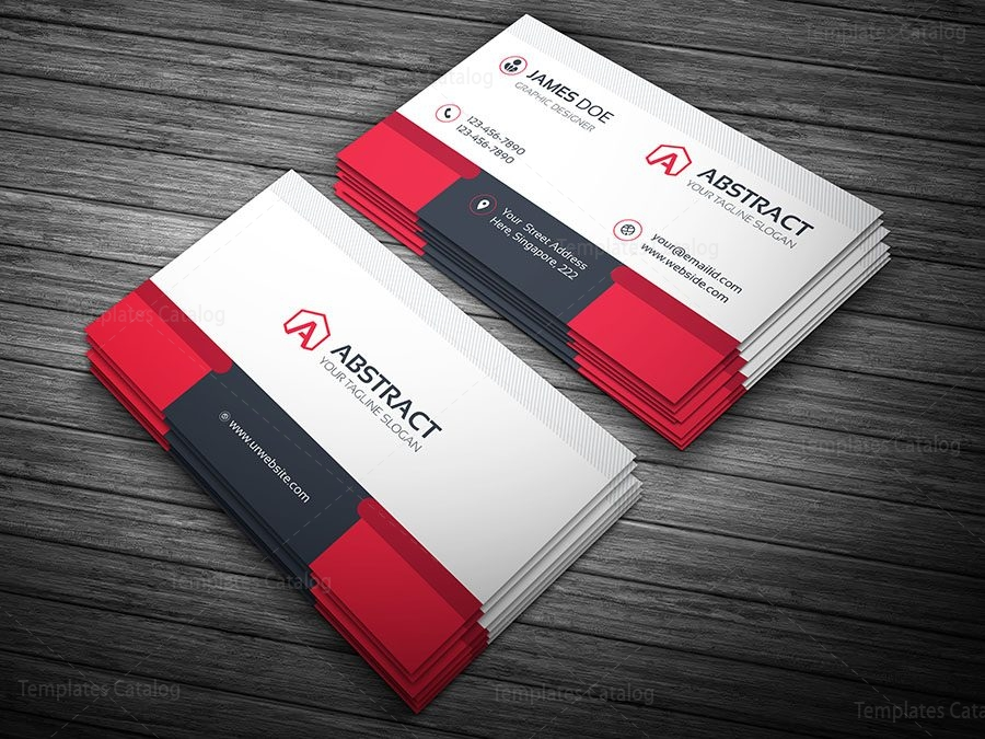 Professional Business Card Template 000100 - Template Catalog