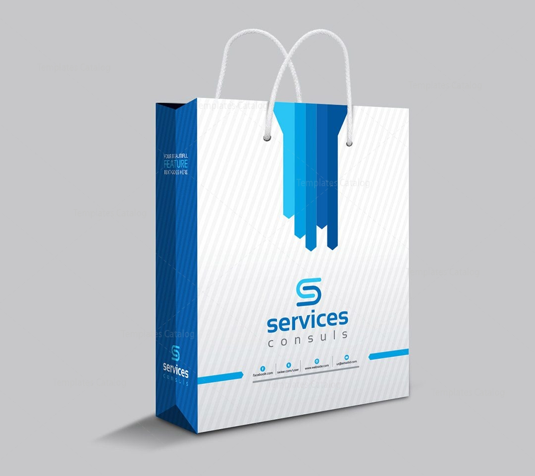 Company Shopping Bag Template 000111 - Template Catalog