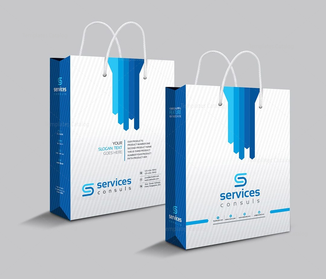 Company Shopping Bag Template 000111 Template Catalog