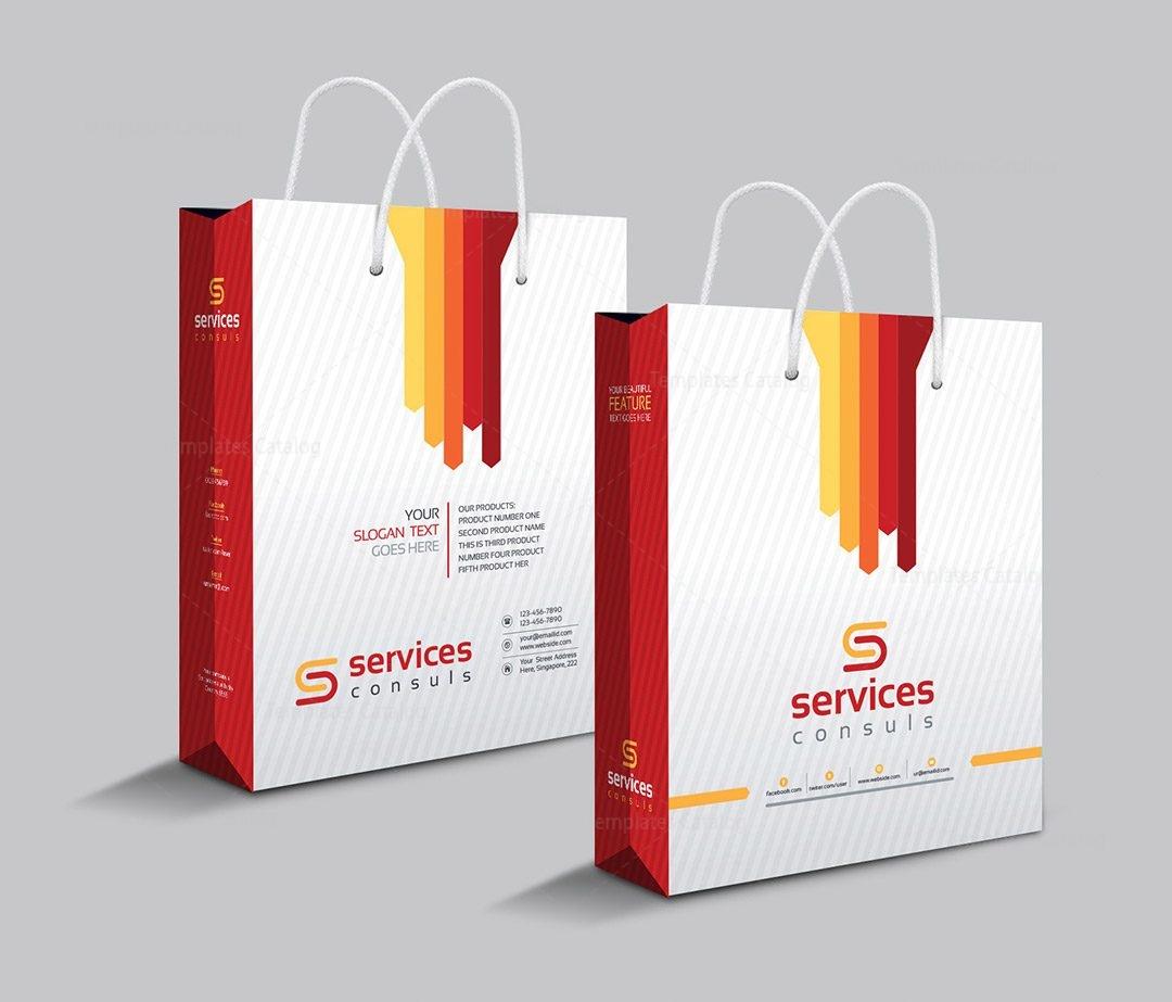 Company Shopping Bag Template 000111 - Template Catalog
