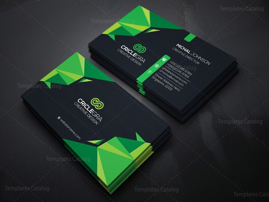 Dark corporation business card template 000183 template catalog dark corporation business card friedricerecipe Images
