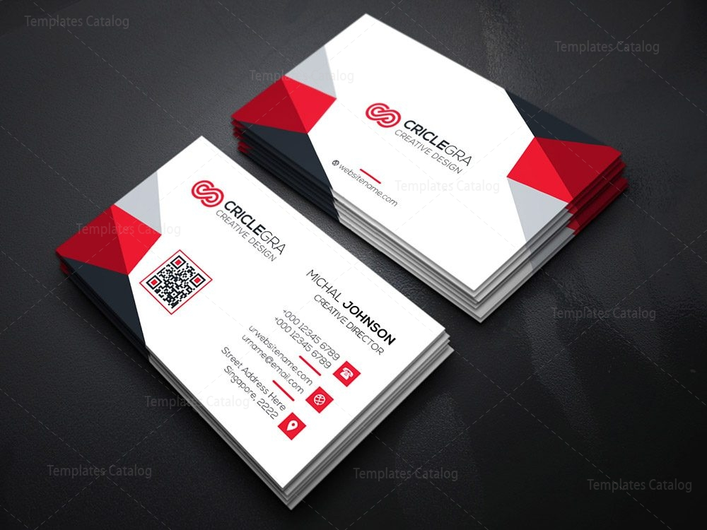 Enterprise business card template 000185 template catalog for Busniess card template