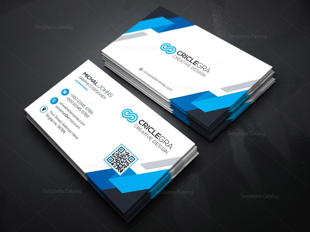 free red hot contemporary business card template