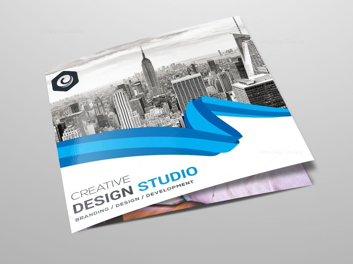 trifold stylish business brochure template template catalog