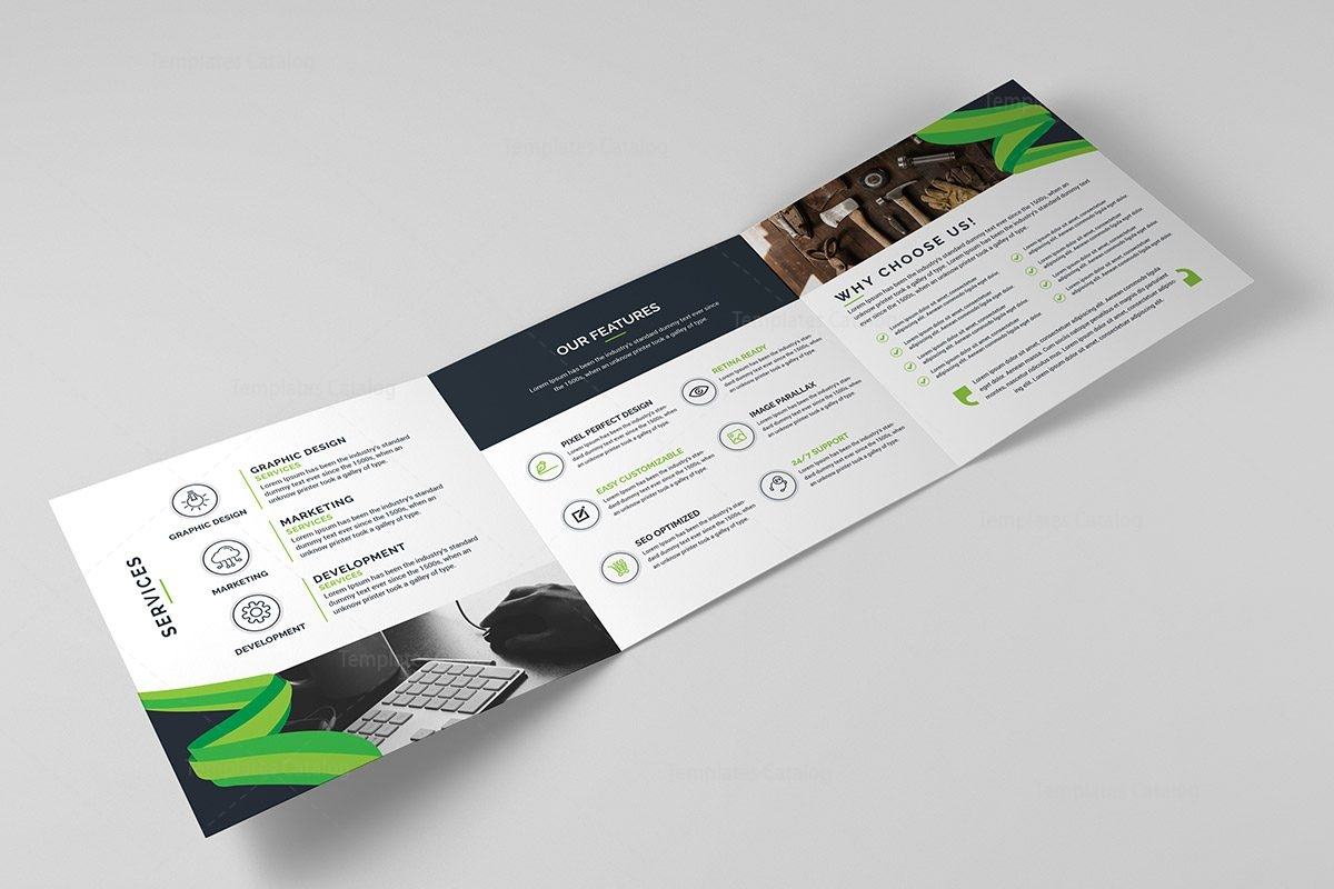 trifold brochure templates - tri fold stylish business brochure template template catalog