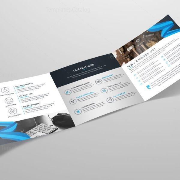 Tri Fold Stylish Business Brochure Template Template Catalog