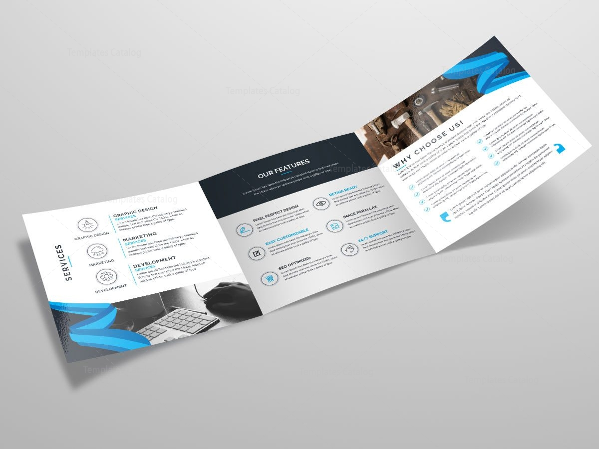 Tri fold stylish business brochure template template catalog for Company brochure template