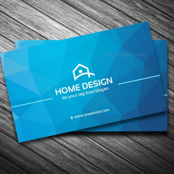 Home Design Business Card Template 000205 Template Catalog