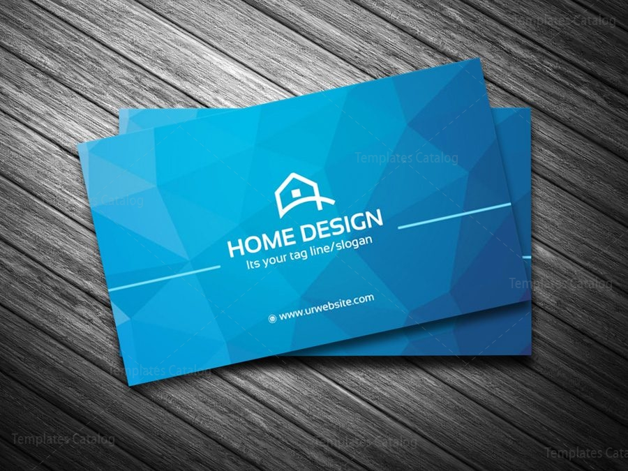 Home Design Business Card Template 000205 - Template Catalog