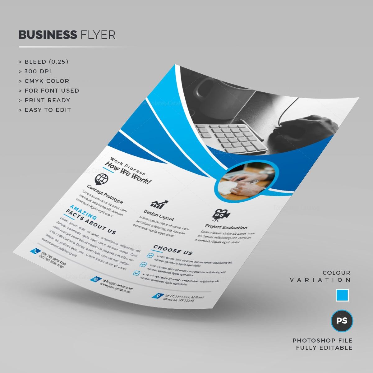 blue corporate flyer template 000254 template catalog