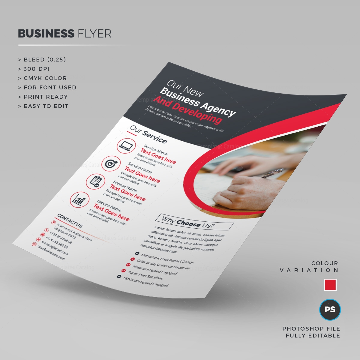 clean corporate flyer template 000246