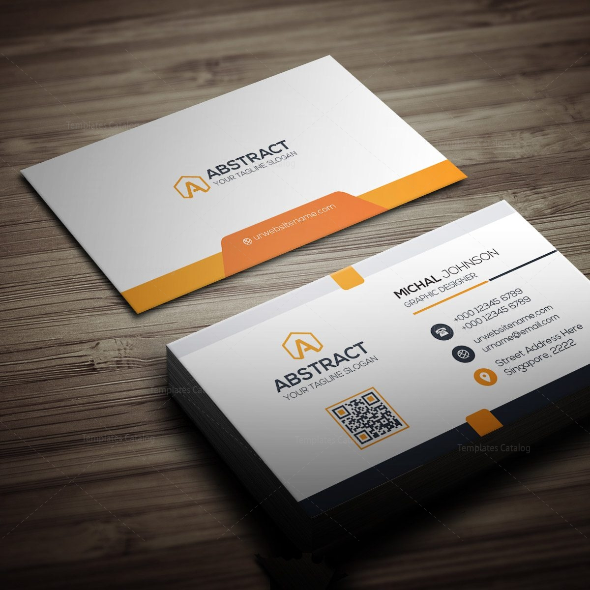 Clean design business card template 000259 template catalog clean design business card template 4 fbccfo