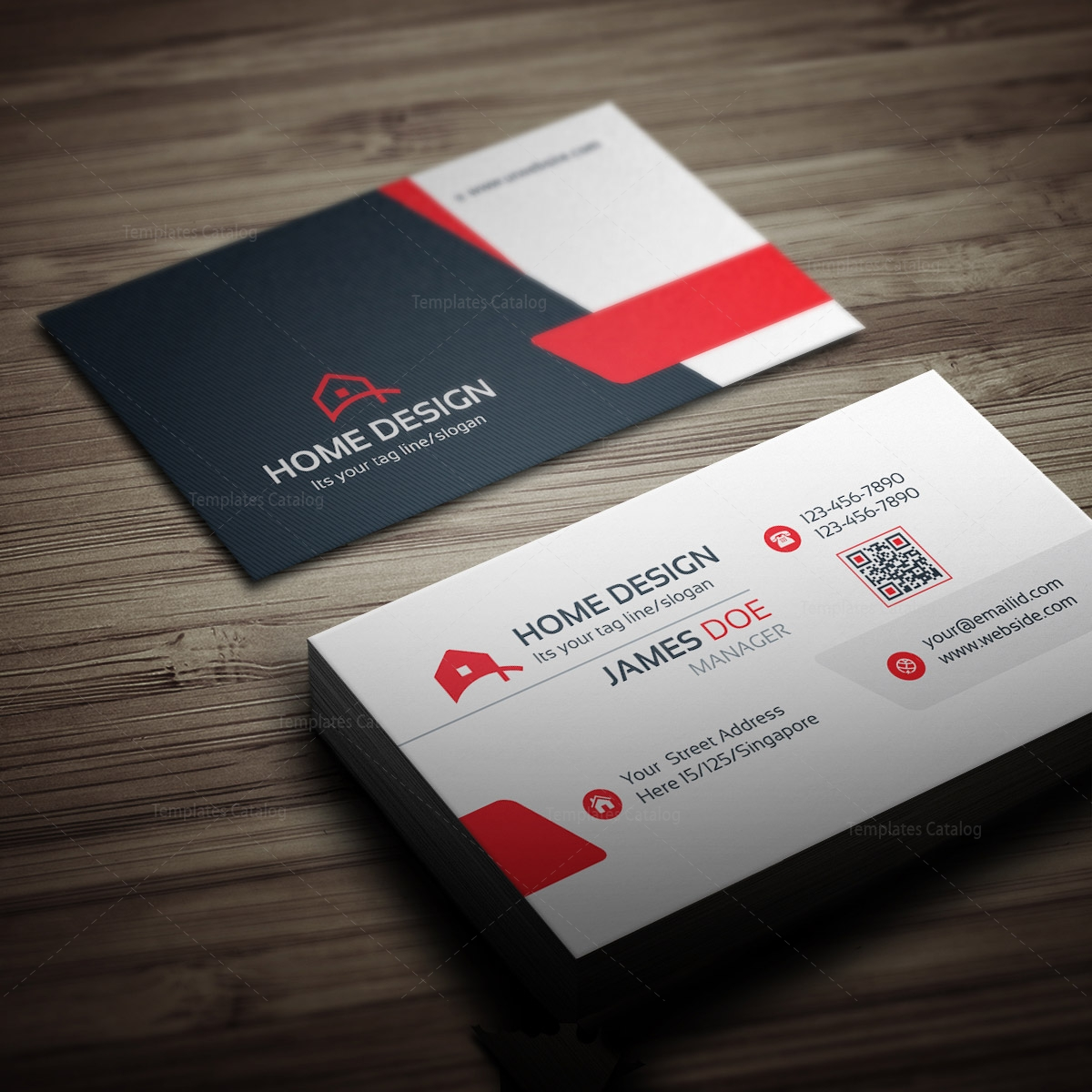 100 House Design Business Cards 26 Modern
