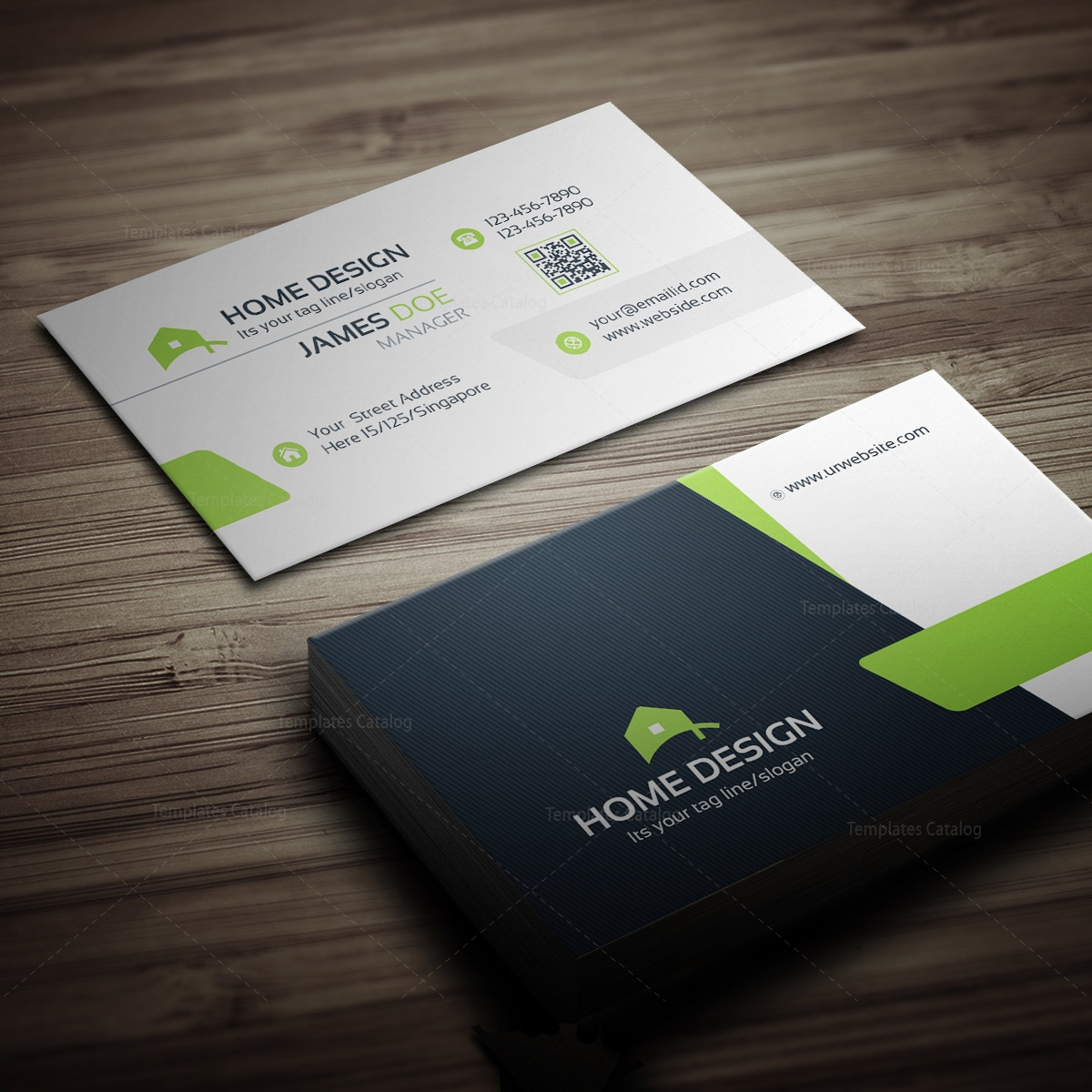 business card design ecosiahome design business card template 000258 template catalog