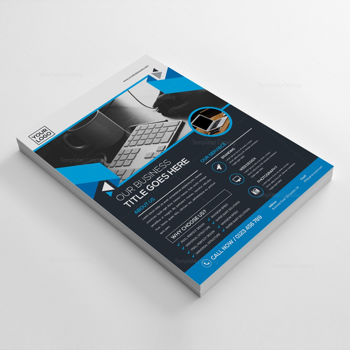 Psd Business Flyer Template 000207 Template Catalog