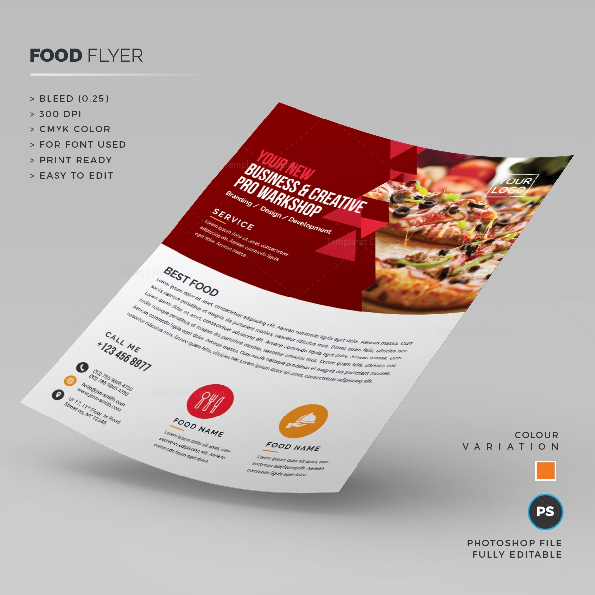 pizza sale flyer template - pizza store flyer 000235 template catalog