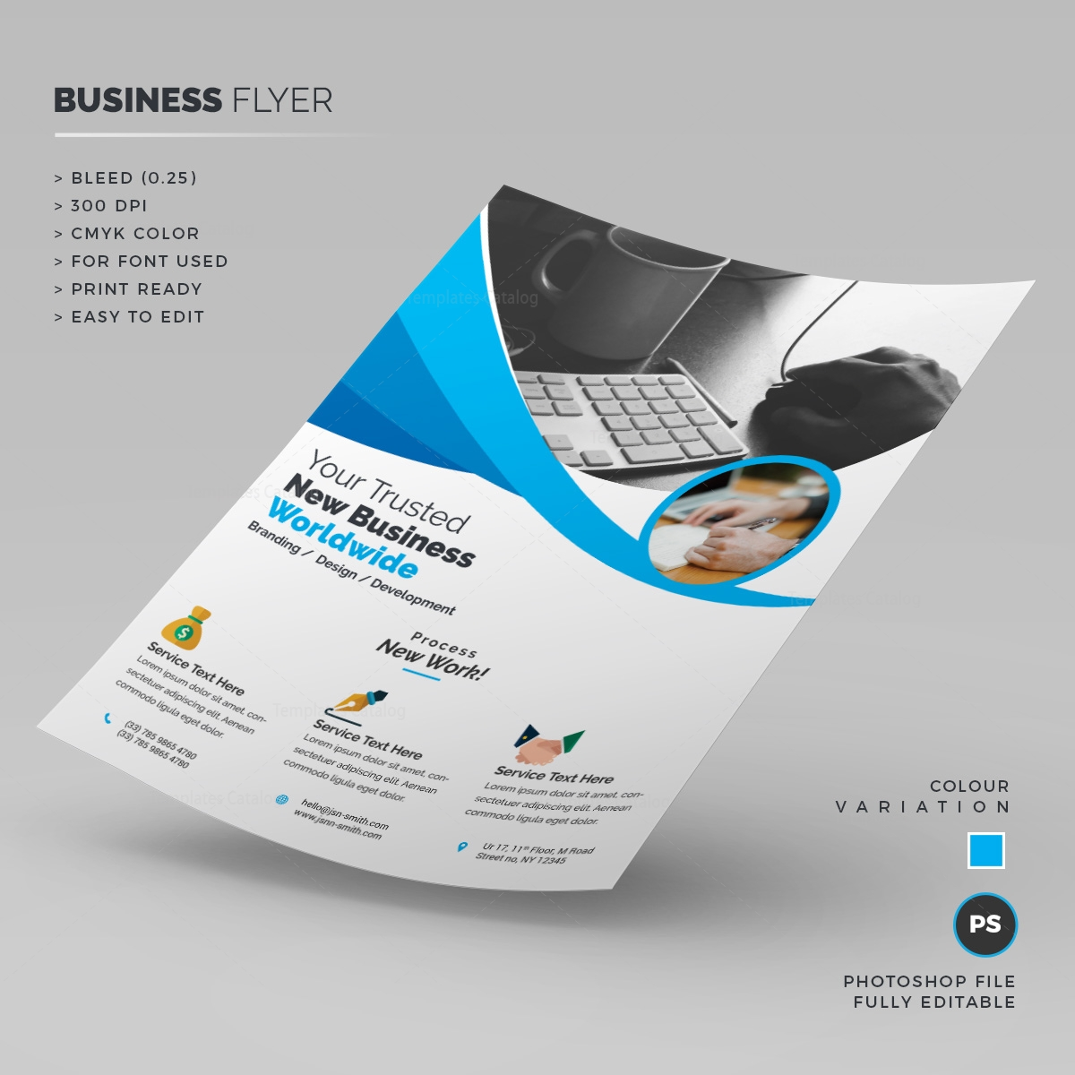 simple corporate flyer 1