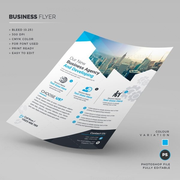 Stylish Corporate Flyer Template 1