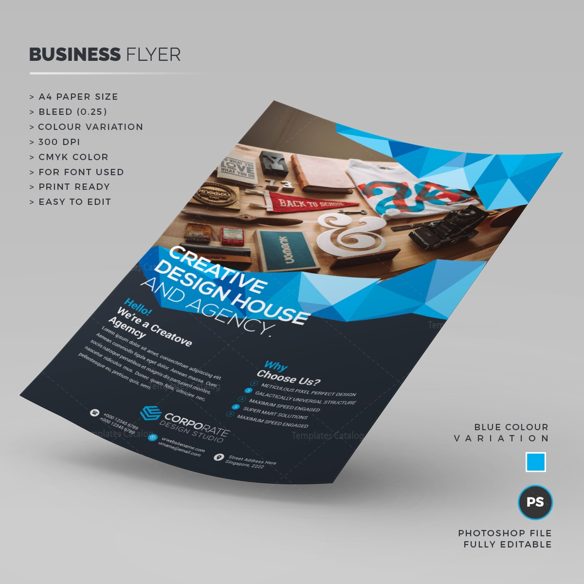 stylish corporate flyer template 000213 template catalog
