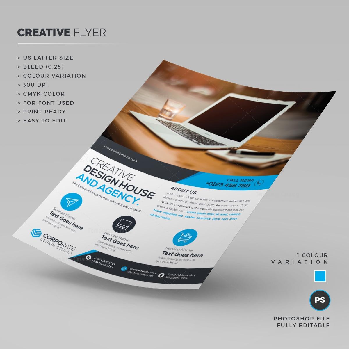 stylish creative flyer template 000212 template catalog