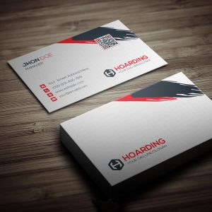 Stylish Hoarding Business Card Template