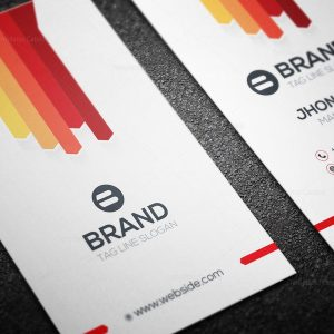 Brand Vertical Business Card