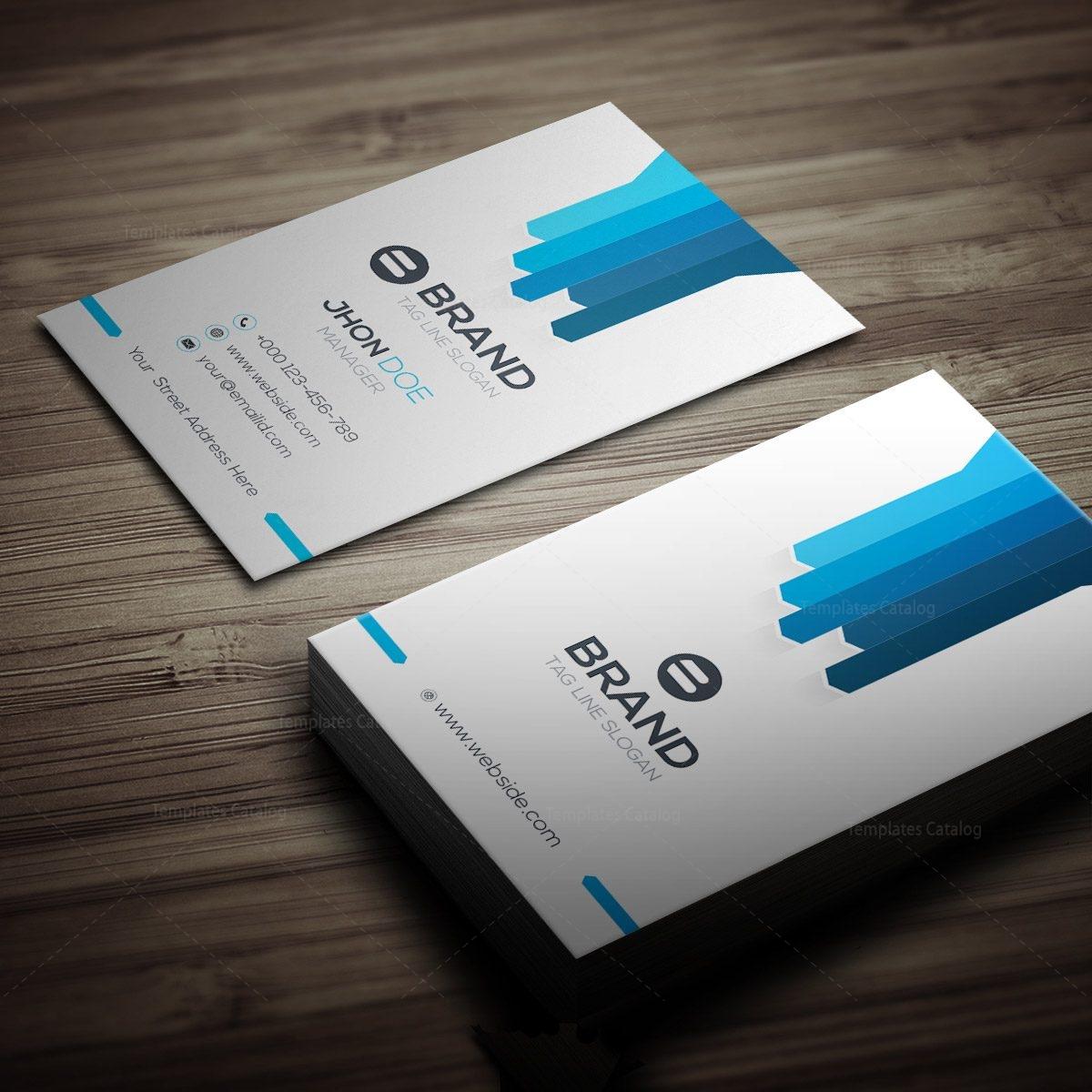 brand vertical business card 000268 template catalog