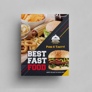 Burger Cafe Food Menu Template