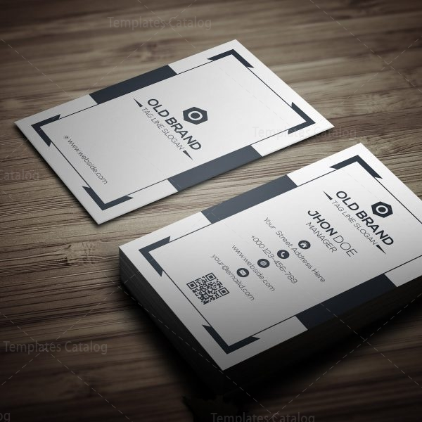 classic vertical business card template 000271 template catalog. Black Bedroom Furniture Sets. Home Design Ideas