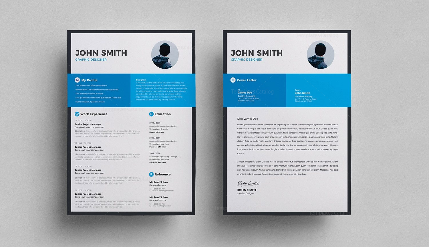 Clean Resume Cover Letter 000294 Template Catalog
