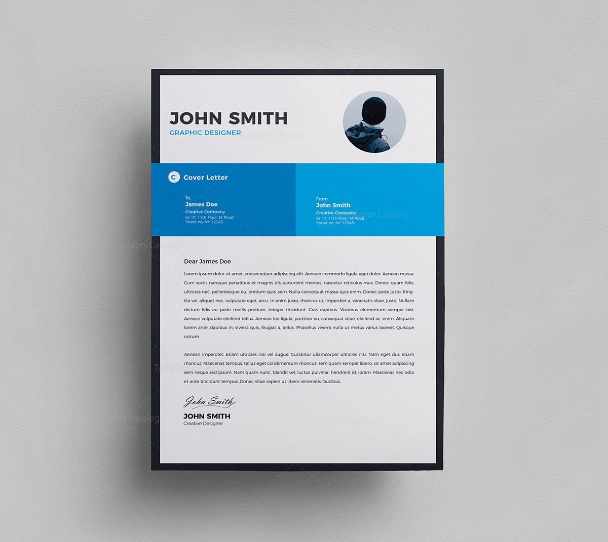 Clean Resume Cover Letter 000294 - Template Catalog