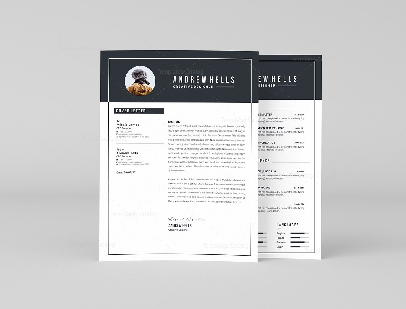 Clean Resume Template   Clean Resume Template Free Design