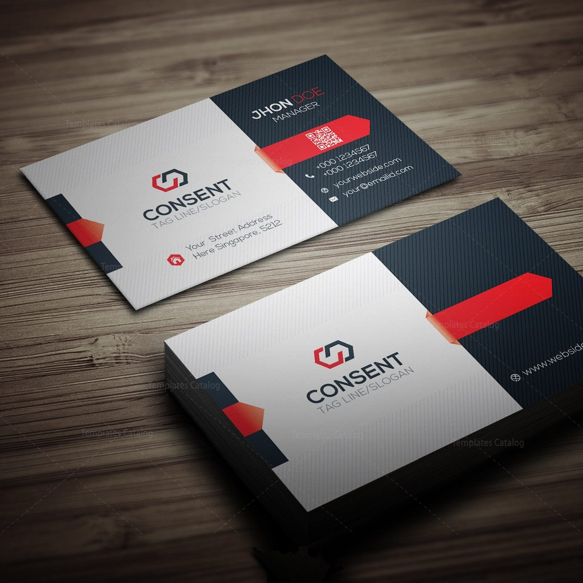 Consent Business Card Template 000275 - Template Catalog