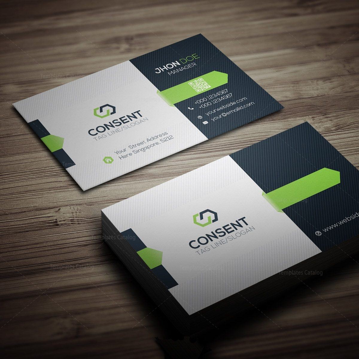 Consent business card template 000275 template catalog for Template of business card