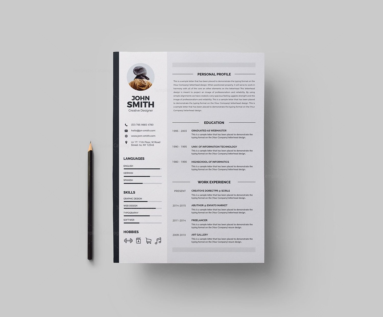 Elegant Resume Template 4 Template Catalog