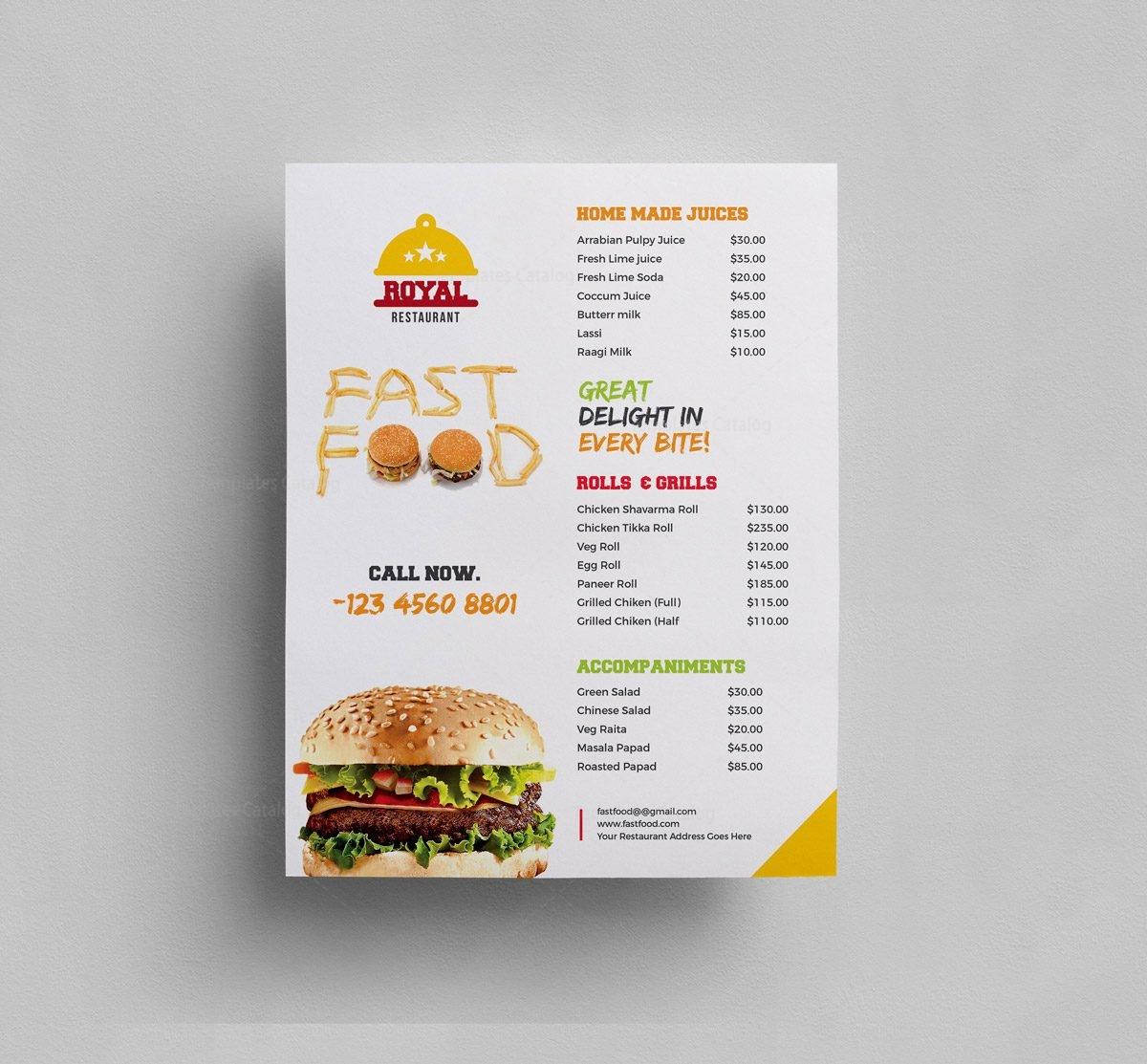 menu flyer - Carnaval.jmsmusic.co
